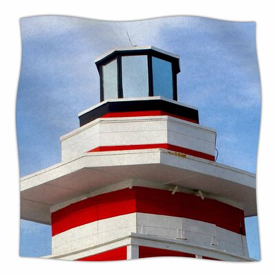 Lighthouse Lifeguard Stand By Philip Brown Fleece Blanket Size: 80 L x 60 W x 1 D