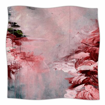 Winter Dreamland  By Ebi Emporium Fleece Blanket Size: 60 L x 50 W x 1 D, Color: Red/Gray