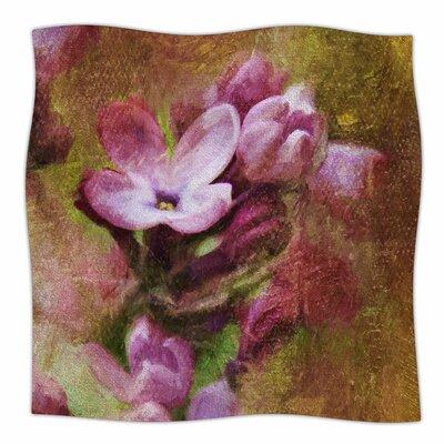 Lilacs In Yellow By Ginkelmier Fleece Blanket Size: 60 L x 50 W x 1 D