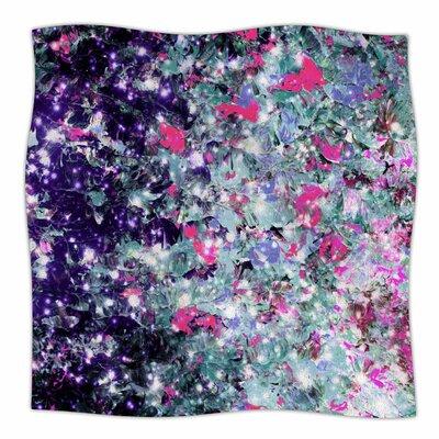 In Perpetuity By Ebi Emporium Fleece Blanket Size: 80 L x 60 W x 1 D, Color: Purple/Silver/Pink