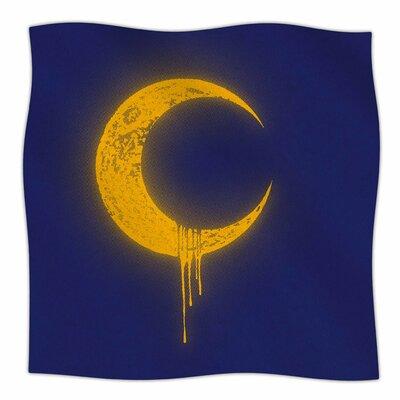 Melting Moon2 By BarmalisiRTB Fleece Blanket Size: 80 L x 60 W x 1 D