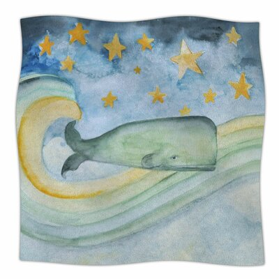 Swimming WIth The Stars By Jennifer Rizzo Fleece Blanket Size: 60 L x 50 W x 1 D