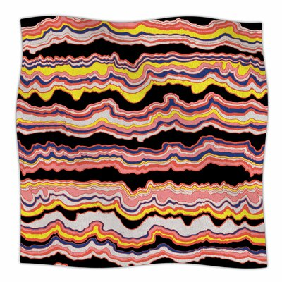 Expressive Lines By DLKG Design Fleece Blanket Size: 80 L x 60 W x 1 D