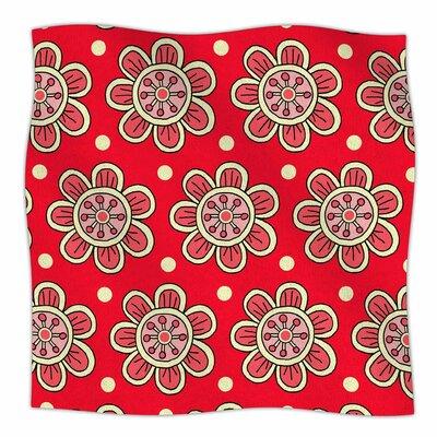 Scarlet Flowers By Sarah Oelerich Fleece Blanket Size: 80 L x 60 W x 1 D