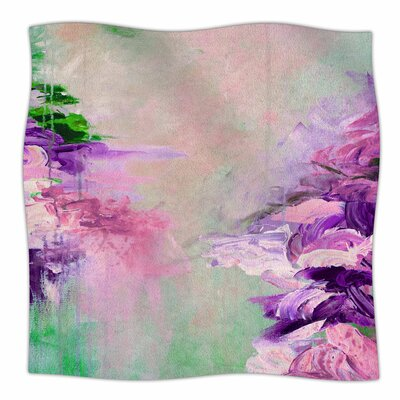 Winter Dreamland  By Ebi Emporium Fleece Blanket Size: 60 L x 50 W x 1 D, Color: Pink/Purple