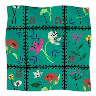 Simple Garden Tiles By DLKG Design Fleece Blanket Size: 80 L x 60 W x 1 D