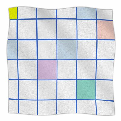 Pastel Windowpane Grid By Vasare Nar Fleece Blanket Size: 60 L x 50 W x 1 D