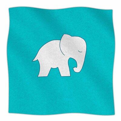 Cute Elephant By NL Designs Fleece Blanket Size: 60 L x 50 W x 1 D