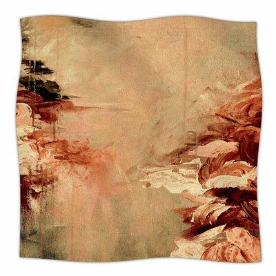 Winter Dreamland  By Ebi Emporium Fleece Blanket Size: 80 L x 60 W x 1 D, Color: Orange/Maroon