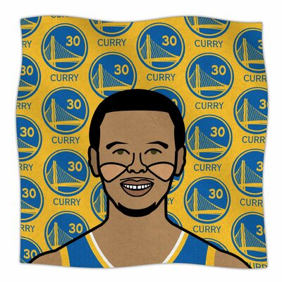 Steph Curry By Will Wild Fleece Blanket Size: 60 L x 50 W x 1 D