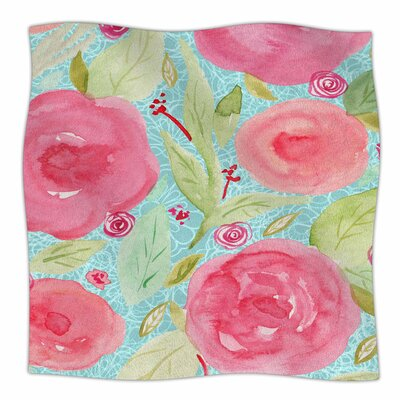 Spring By Li Zamperini Fleece Blanket Size: 80 L x 60 W x 1 D