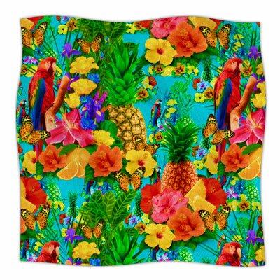 Tropical Style By Shirlei Patricia Muniz Fleece Blanket Size: 80 L x 60 W x 1 D
