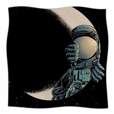 Crescent Moon By Digital Carbine Fleece Blanket Size: 60 L x 50 W x 1 D