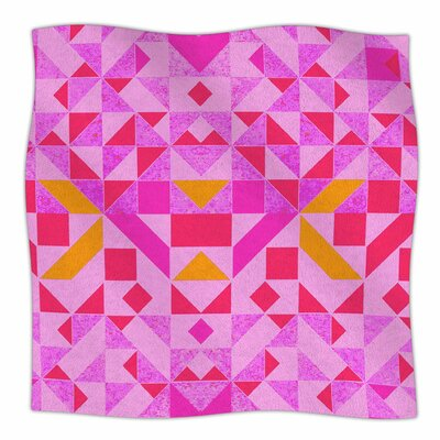 Candy Geometric By Vasare Nar Fleece Blanket Size: 60 L x 50 W x 1 D, Color: Candy