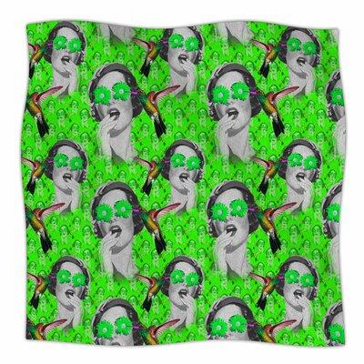 Good Vibes By Shirlei Patricia Muniz Fleece Blanket Size: 60 L x 50 W x 1 D