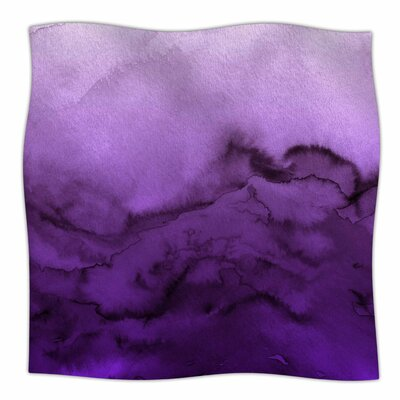Winter Waves  By Ebi Emporium Fleece Blanket Color: Purple, Size: 80 L x 60 W x 1 D