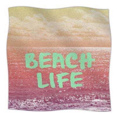 Beach Life By Alison Coxon Fleece Blanket Size: 80 L x 60 W x 1 D