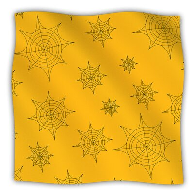 Mini Webs Fleece Blanket Color: Orange, Size: 60 W x 80 L