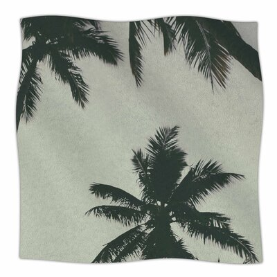 Rise Of Palms By Mary Carol Fitzgerald Fleece Blanket Size: 60 L x 50 W x 1 D