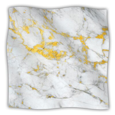 Flake Fleece Blanket Color: Gold, Size: 60 W x 80 L