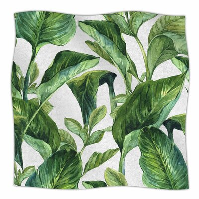 Banana Leaves Fleece Blanket Size: 60 L x 50 W x 1 D