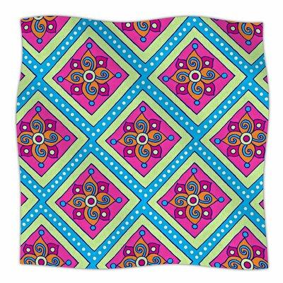 Colorful Diamonds By Sarah Oelerich Fleece Blanket Size: 80 L x 60 W x 1 D
