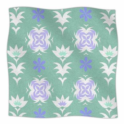 Edwardian Tile By Alison Coxon Fleece Blanket Color: Blue, Size: 80 L x 60 W x 1 D