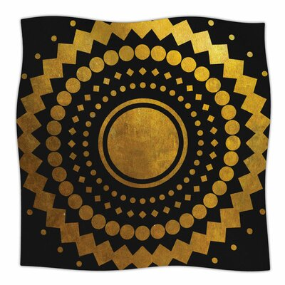 Gilded Confetti By Matt Eklund Fleece Blanket Size: 80 L x 60 W x 1 D