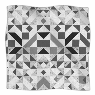 Candy Geometric By Vasare Nar Fleece Blanket Size: 60 L x 50 W x 1 D, Color: Monochrome