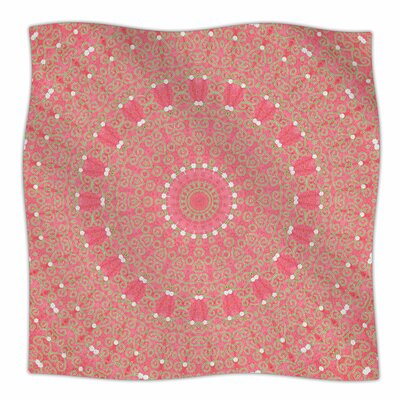 Boho Hearts Coral By Sylvia Cook Fleece Blanket Size: 60 L x 50 W x 1 D