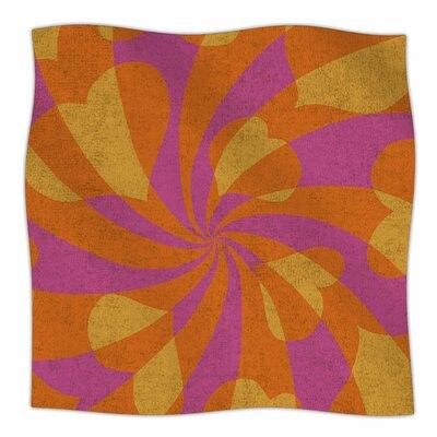 Heart Explosion By Nacho Filella Fleece Blanket Size: 60 L x 50 W x 1 D