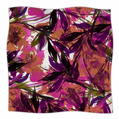 Floral Fiesta By Ebi Emporium Fleece Blanket Size: 60 L x 50 W x 1 D, Color: Pink Plum