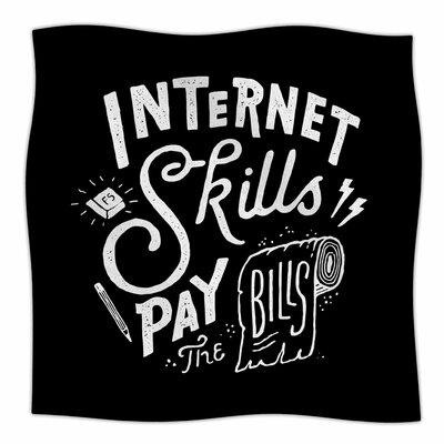 Pay The Bills By Tatak Waskitho  Fleece Blanket Size: 80 L x 60 W x 1 D