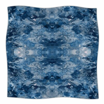 Tie Dye Helix by Ebi Emporium Fleece Blanket Color: Blue, Size: 50 W x 60 L