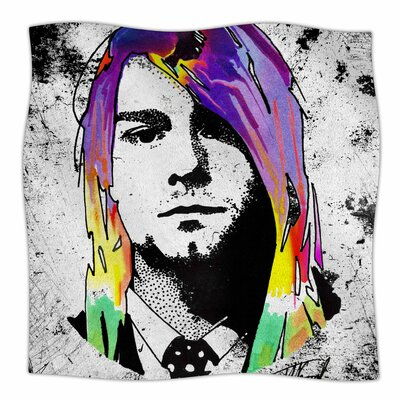 'Grunge' By Ivan Joh Fleece Blanket Size: 80