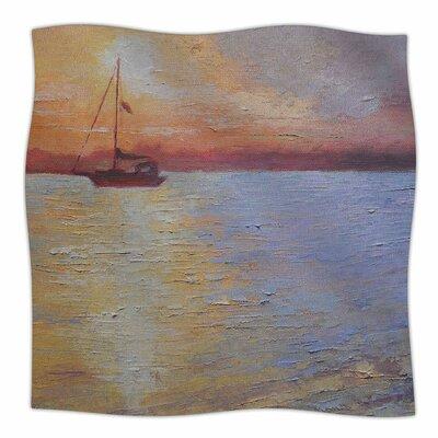 Evening Anchor By Carol Schiff Fleece Blanket Size: 60 L x 50 W x 1 D