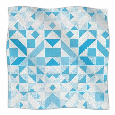 Candy Geometric By Vasare Nar Fleece Blanket Size: 60 L x 50 W x 1 D, Color: Light Blue