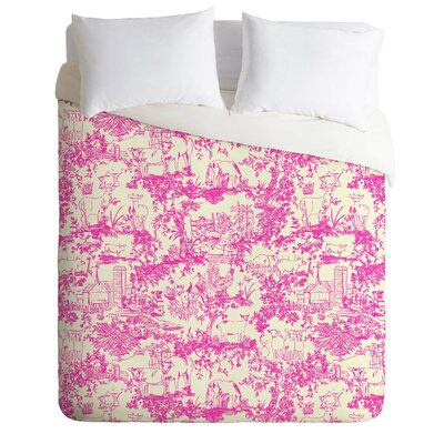 Rachelle Roberts Farm Land Toile Duvet Cover Size: King