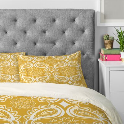 Heather Dutton Plush Paisley Goldenrod Pillowcase