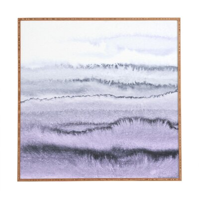 Within The Tides Lilac Gray Framed Graphic Art
