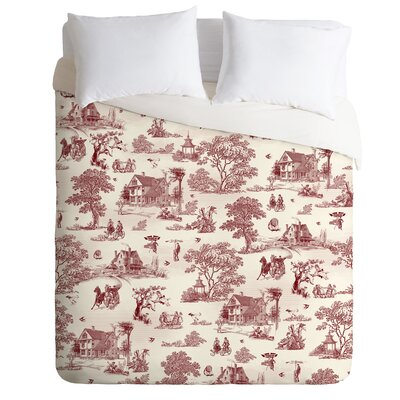Belle13 Vintage Sunday Afternoon Duvet Cover Size: King