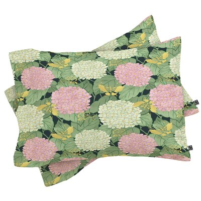 Hydrangea and Butterflies Pillowcase