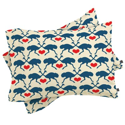 Ostrich and Heart Pillowcase