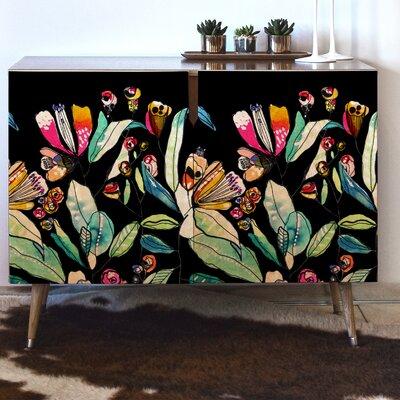 CayenaBlanca Spring Wildflowers Accent Cabinet