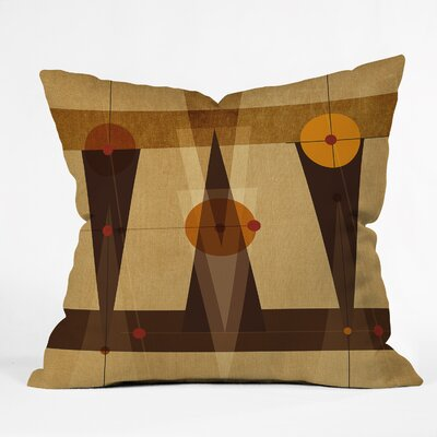 Geometric Abstract Throw Pillow Size: 16 H x 16 W x 4 D