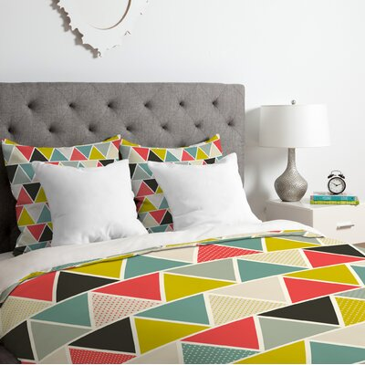 Triangulum Duvet Cover Set Size: Twin/Twin XL