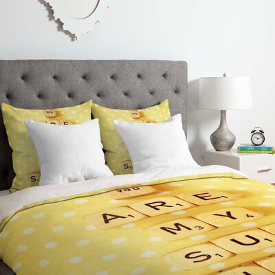 You Are My Sunshine Duvet Cover Set Size: Queen