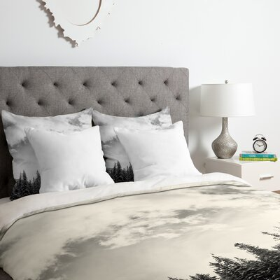 White Mountain Duvet Cover Set Size: Queen