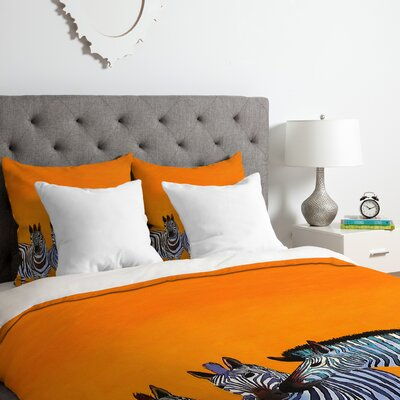 Zebras Duvet Cover Set Size: King