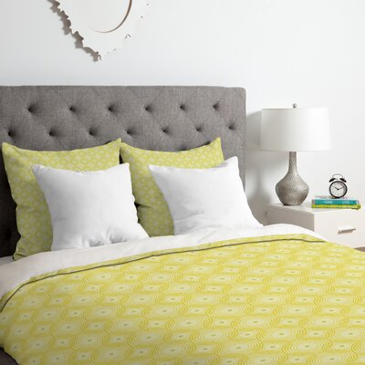 Spirals Duvet Cover Set Size: King